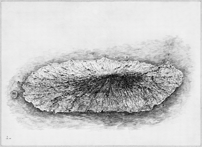 Jeju Island, 1989, Pen and black ink on paper, 38.7x53.2cm