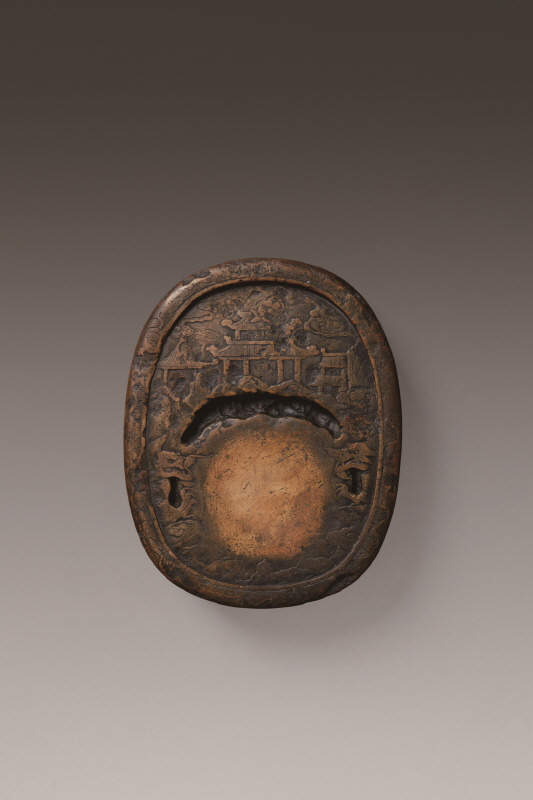 Chengni-Inkstone with Carved 'Penglai', Ming Dynasty, H5.2 W19.6 (1)