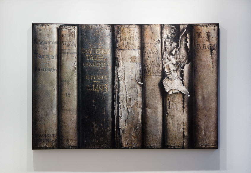 Hardbacks, 2017, Oil on canvas, 130.5x194cm