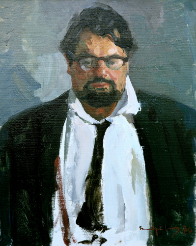 Portrait of the Artist J. N. Tulin, 1970, Oil on canvas, 50×40cm