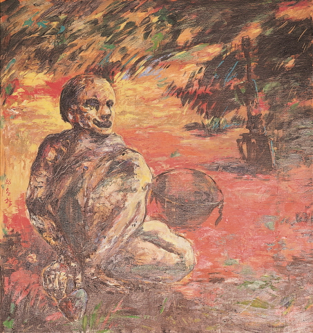 In the Field, 1986, Oil on canvas, 127x116cm