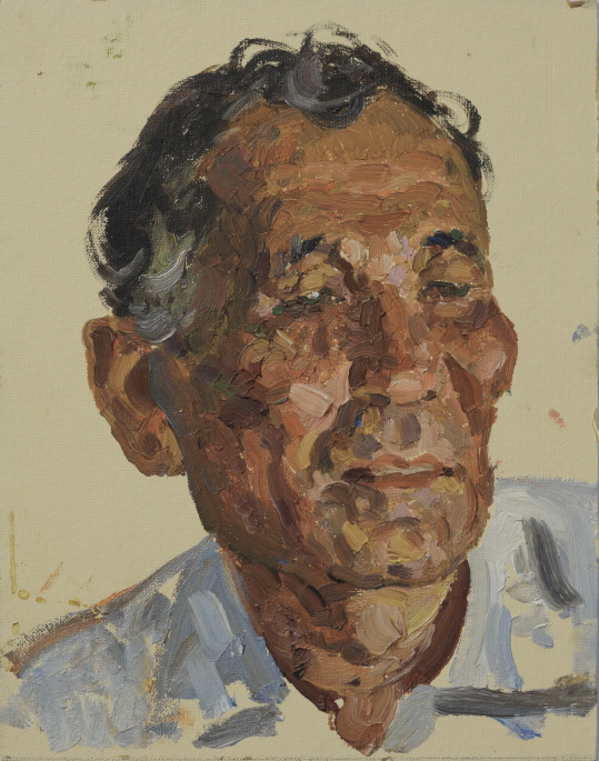 Face (Etude), 1961, Oil on panel, 22×17cm