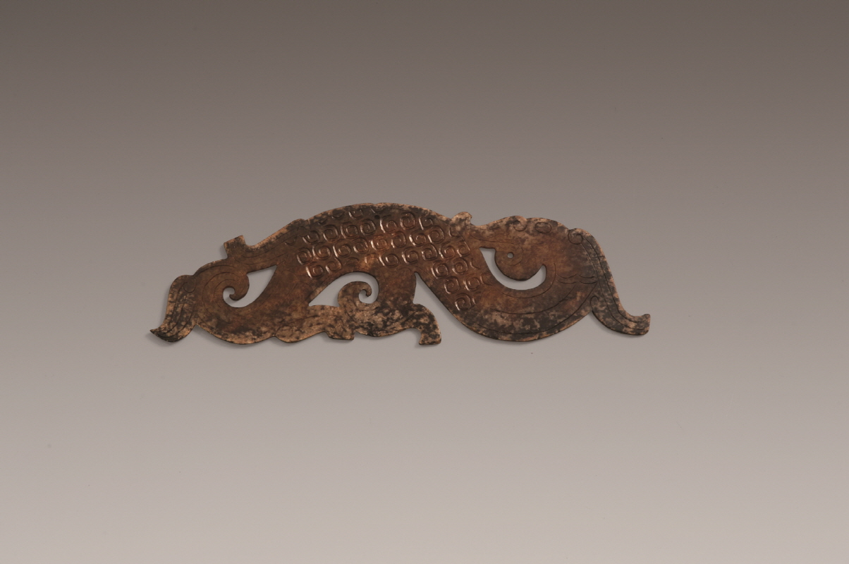 Carved 'Vally-Dagon' Jade Pendant, Warring States Period, H0.5 W19