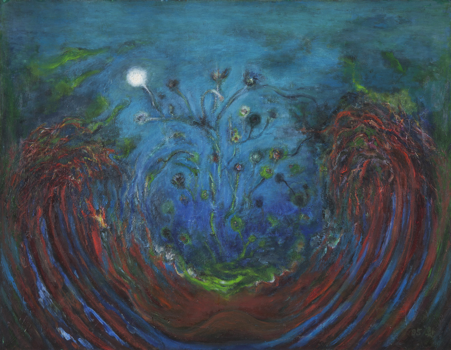 White Flower, 1994, Oil on canvas, 90.5x116.5cm