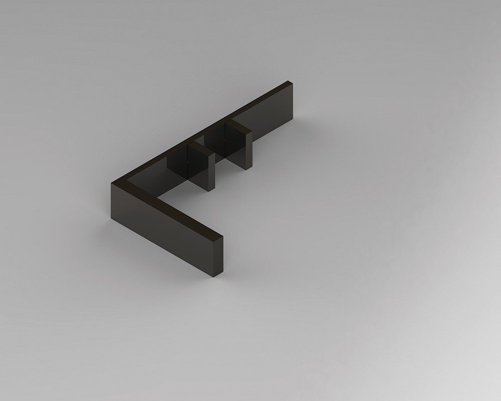 Stone_Basin faucet, 2016, Gun metal, 34.6x20x6cm, Manufactured by Fantini (Rendering2)