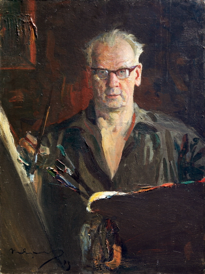 Portrait of the Artist Piotr Fomin, 1973, Oil on canvas, 80×60cm