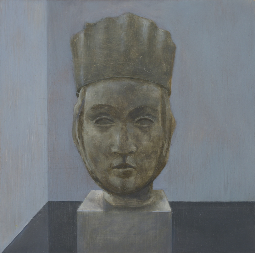 Crown (Queen), 2017, Oil on alu-dibond on wood, 22x22cm, Photograph by Jean-Louis Losi, courtesy of Galerie EIGEN + ART Leipzig/Berlin