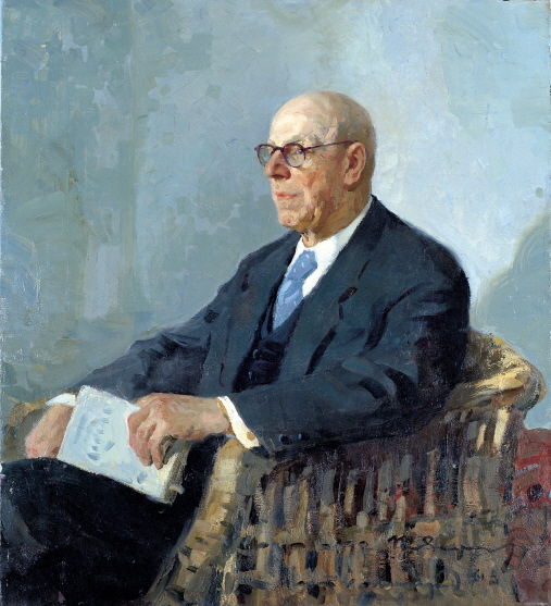 Portrait of N. N. Davidenkov, 1961, Oil on canvas, 120×90cm