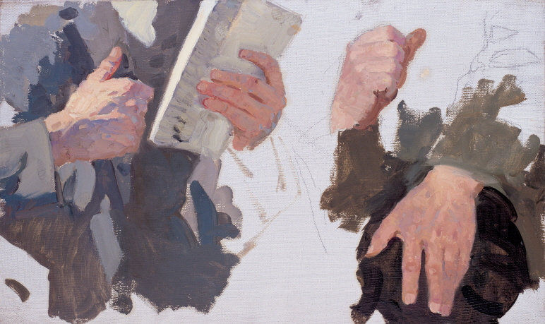Study of Hands, 1949, Oil on canvas, 36×60cm