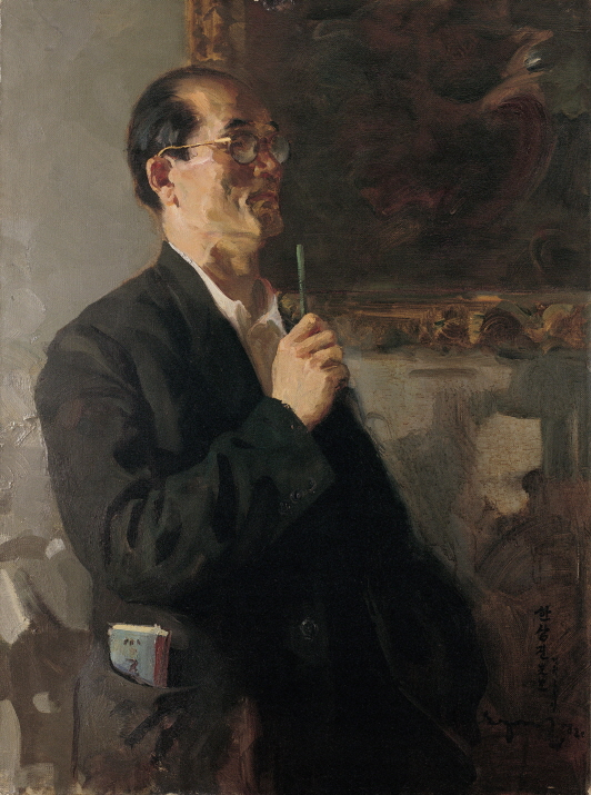 Art Historian Han Sangjin, 1958, Oil on canvas, 100×75cm