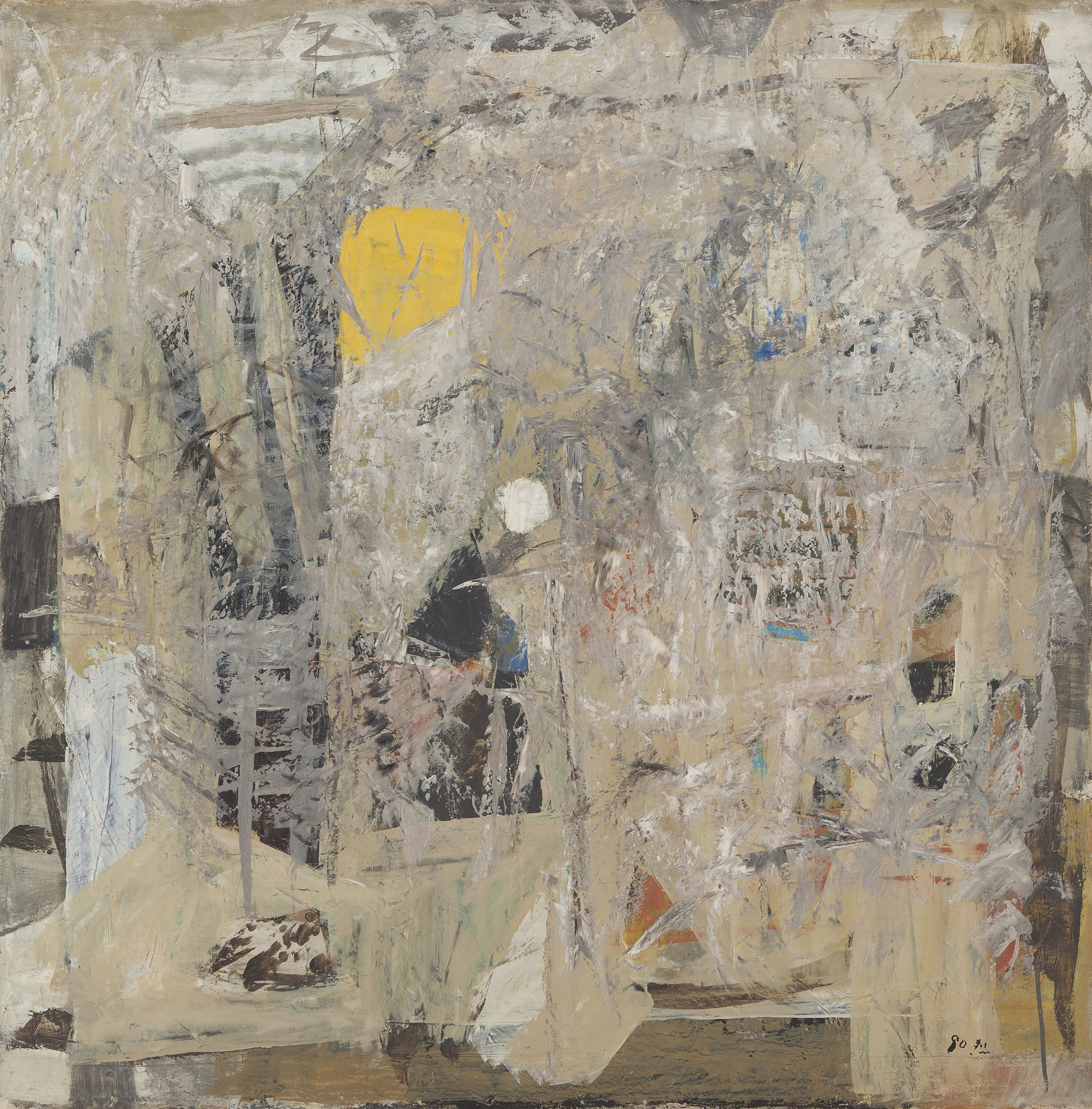 Untitled, 1980, Mixed Media, 115x115cm