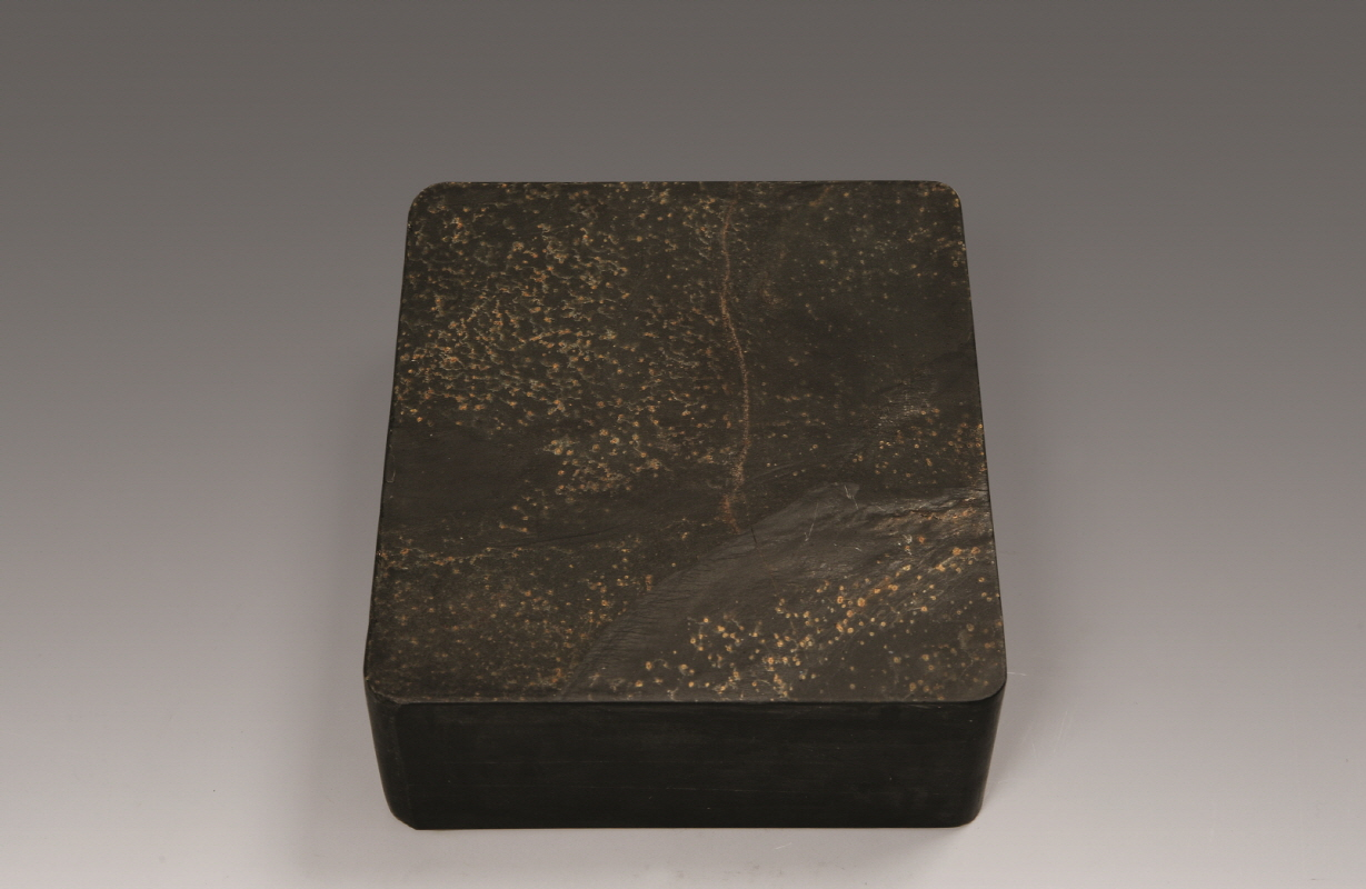 'Gold Stars' Plate-Inkstone from Shè State, Qing Dynasty, H15.9 W14.3 D6