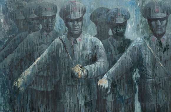 Under the Rain, 1996, Oil on canvas, 108x163cm