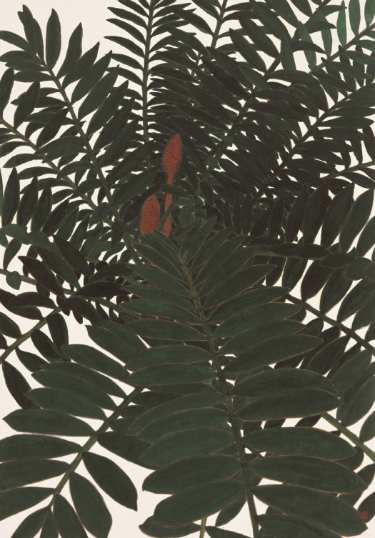 Towards, 2008, Color on Hanji, 115x63cm