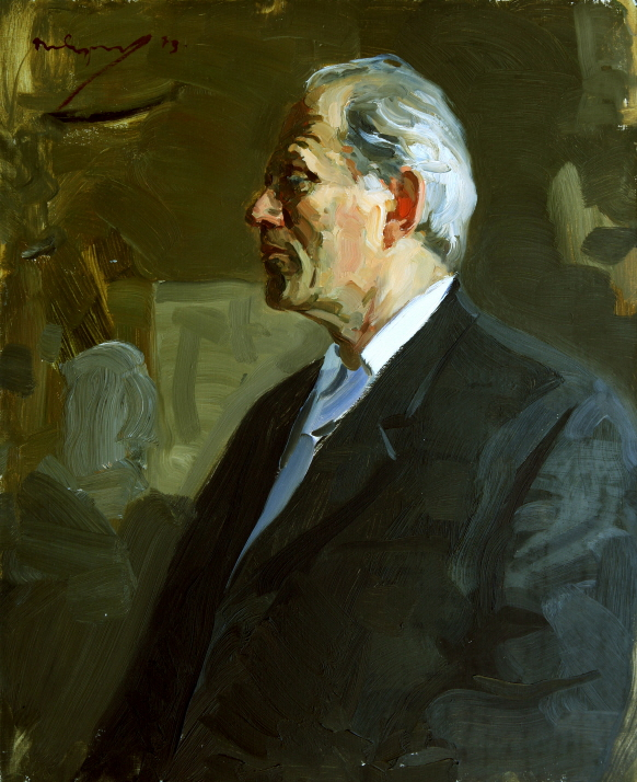 Portrait of the Artist J. M. Neprintsev, 1973, Oil on canvas, 60×50cm