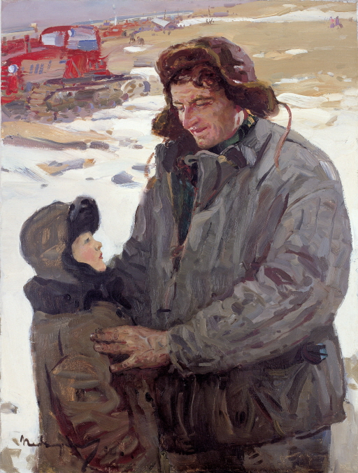 V. I. Schmitov, the Tractor Driver at a State-run Farm, 1972, Oil on canvas, 100x75.3cm