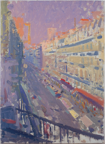 The Scenery Viewed from the Balcony (Paris), 1981, Oil on canvas panel, 35×25cm