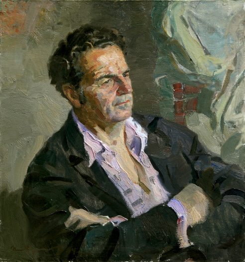 Portrait of the Sculptor V. G. Stamov, 1974, Oil on canvas, 70×65cm