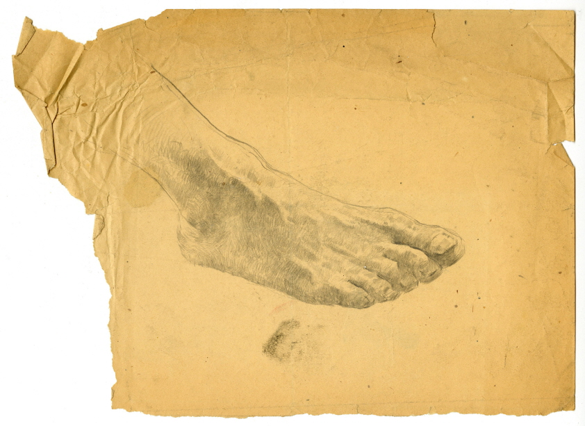 Sketch of a Foot, 1946, Pencil on paper, 20.5×27cm