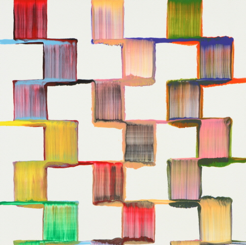 Bernard FRIZE Plico 2008 acrylic and resin on canvas 165x165cm
