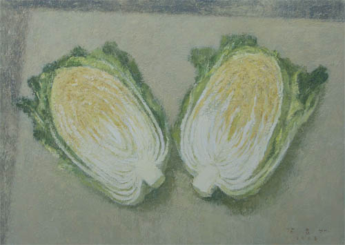 KANG Yo-bae  Cabbage  2008  Acrylic on canvas 72.8x90.9cm