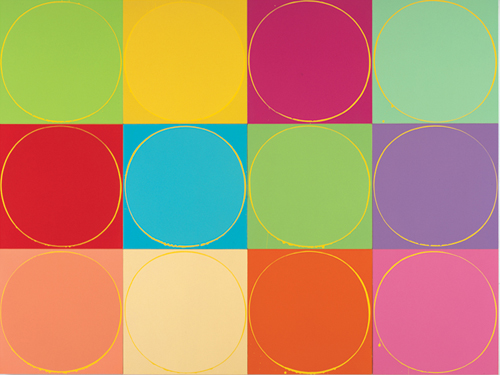 이안 다벤포트 Untitled Circle Painting: 12 multicoloured panels, no.1