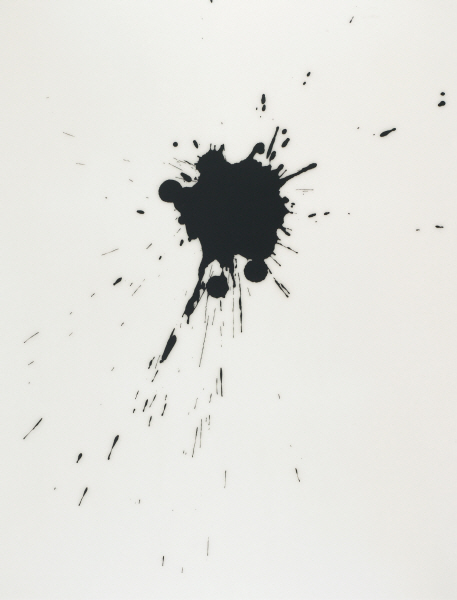 LEE Bae 17A08 2008 Acrylic medium, charcoal black on canvas 195x150cm