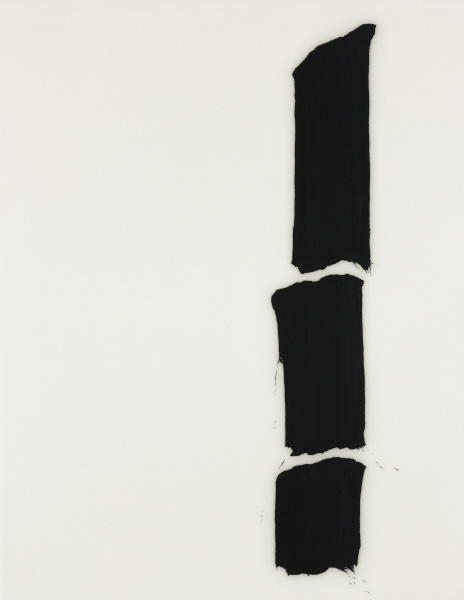 LEE Bae 23J08-3 2008 Acrylic medium, charcoal black on canvas 92x73cm