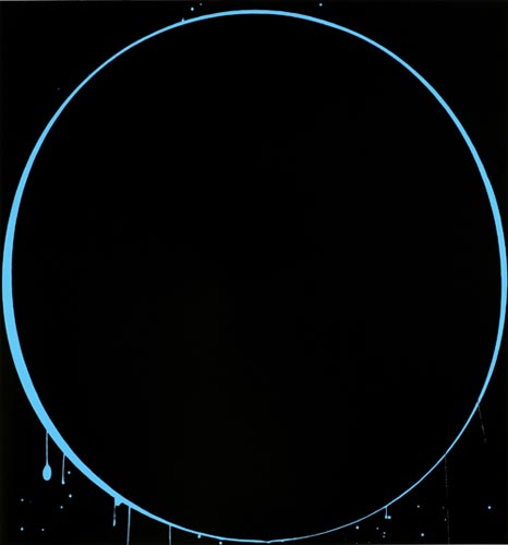 이안 다벤포트 Ovals; black, light blue, black