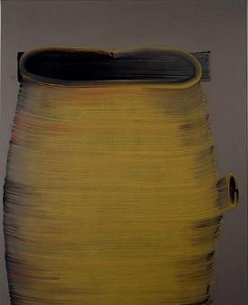 SONG Hyunsook 11 Brushstrokes 2005 Tempera on canvas 200x160cm