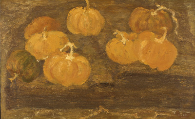 KANG Yo-bae Pumpkins  2005 Acrylic on canvas 89.4x145.5cm