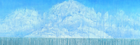 New scenery in dream, 2009, Korean ink, acrylic on canvas, 110x300cm