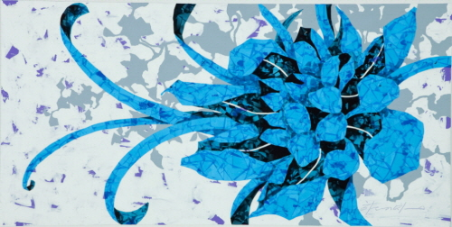 Bona fide bonding_X-ray Film, Acrylic on Canvas_120×180cm_2010