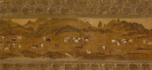 Anonymous - The Landscape of Pastureland_Korean ink, colors on silk_34x119.5cm_15-16c