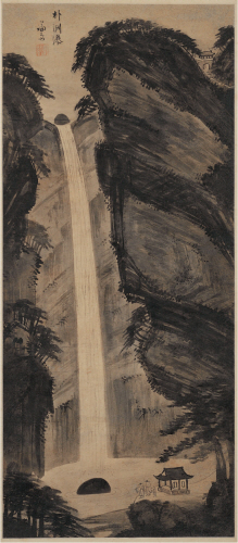 JEONG Seon (Gyeomjae)_The Pak yeon falls_Korean ink on paper_119.5×52cm_18c