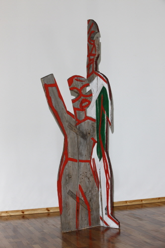 SUH Yongsun Standing People 3 2008 Acrylic on wooden panel 59x85x273cm