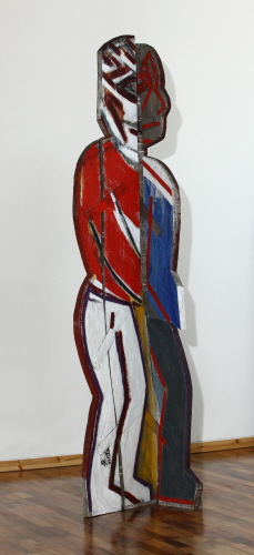 SUH Yongsun Standing People 1 2008 Acrylic on wooden panel 56x57x277.5cm