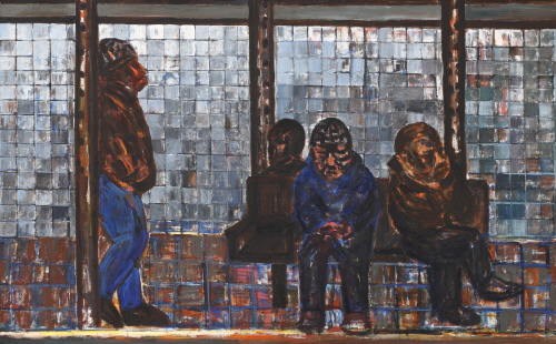 SUH Yongsun People Waiting Subway at 14th Street Station 2010 Acrylic on canvas 143.5x230.5cm
