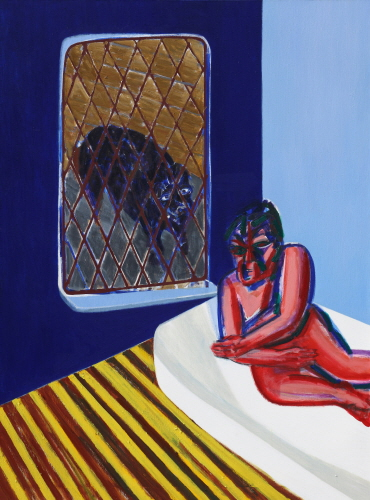 SUH Yongsun A Dog Peeking into the Room 2010 Acrylic on canvas 258.5x193.5cm