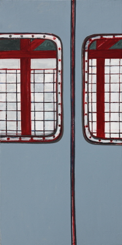 SUH Yongsun A Subway Door 2011 Acrylic on canvas 179x90cm