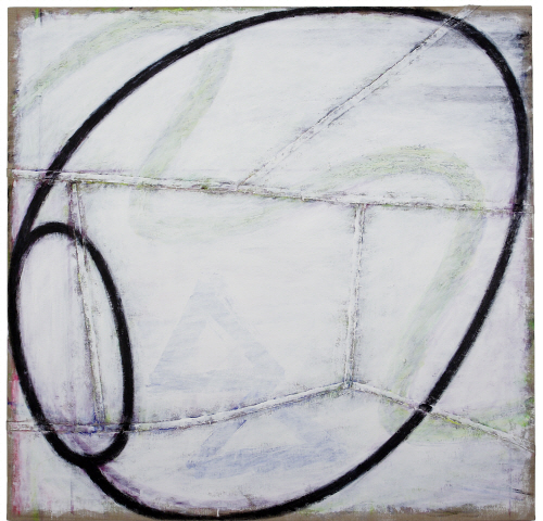 Untitled S4, Acryilc on pieced linen, 127×130.2cm, 1994