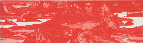 LEE Seahyun Between Red_113 2010 Oil on Linen 60x200cm