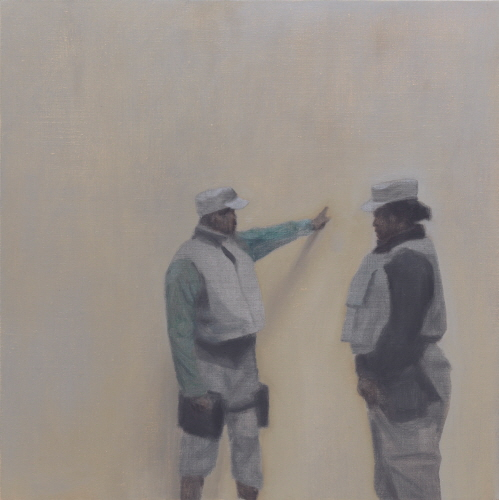 Tim EITEL Untitled(Instruction) 2009 Oil on canvas 30.5×30.5cm