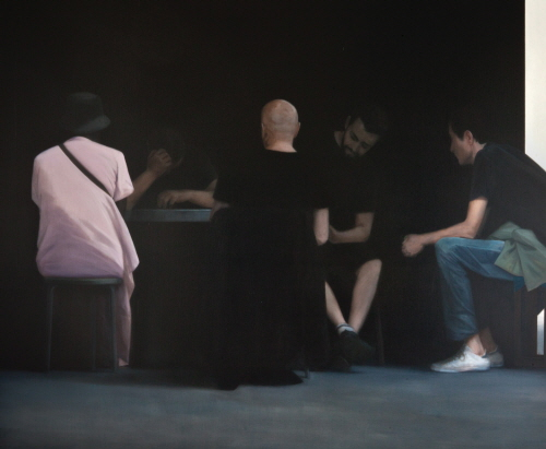Tim EITEL  Five Men Around a Table 2011 Oil on canvas 175×210cm