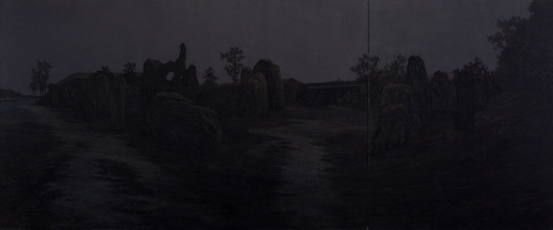 Pan Jian Every Corner Could be Possible  2009 Oil on canvas  250 x 600cm