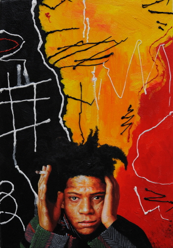 Sangik Seo Temple of the Artist - J.M.Basquiat, 2012, Oil on canvas, 22.5x15.8cm