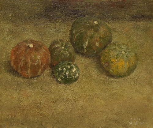 Little Pumpkins  2012 Acrylic on canvas  60.6x72.7cm