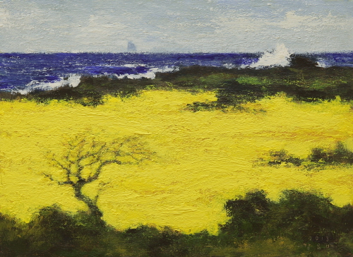 Canola Field 2013  Acrylic on canvas  53x72.7cm