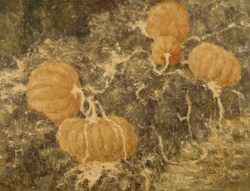 Gwideok Pumpkins 2010  Acrylic on canvas  112x145.5cm