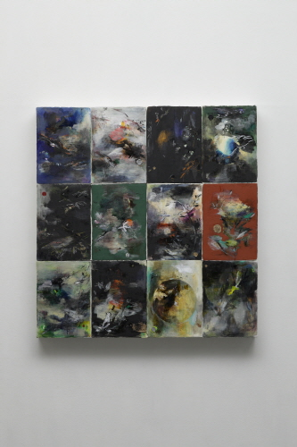 2013 Matrix #54, 2013, Oil on paper, 36x26cm(each, 12pcs)